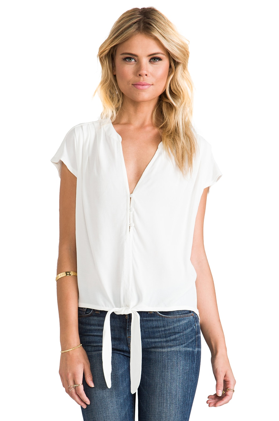 Soft Joie Chally Top in Porcelain