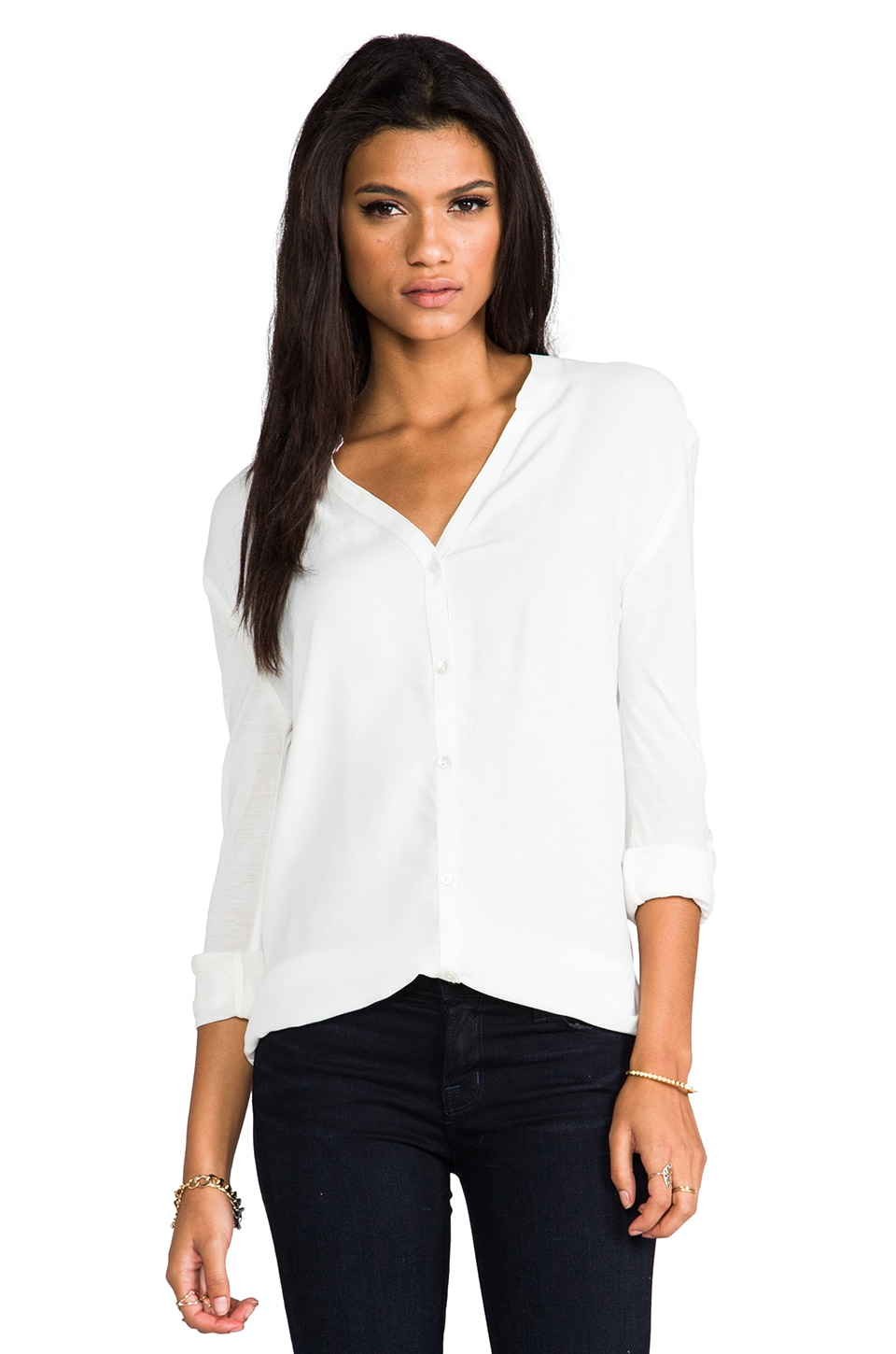 Soft Joie Dane B Blouse in Porcelain