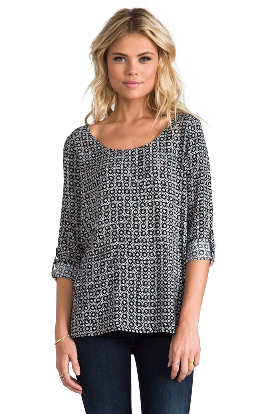 Soft Joie Wyoming B Top in Caviar/Porcelain