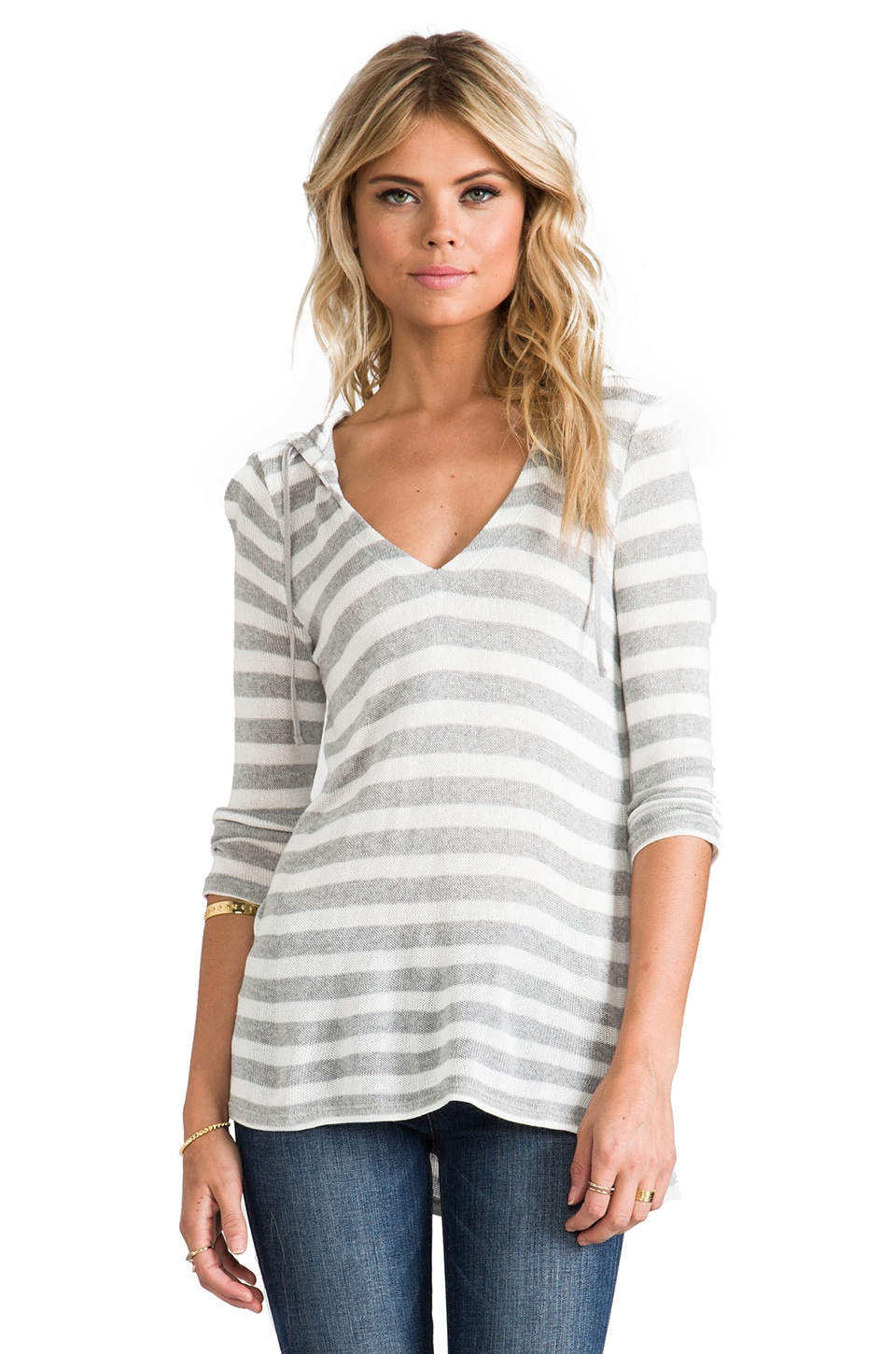 Soft Joie Bromley Top in Heather Grey/Porcelain