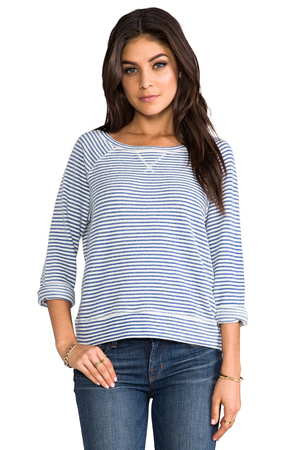 Soft Joie Emma Top in Estate Blue/Porcelain