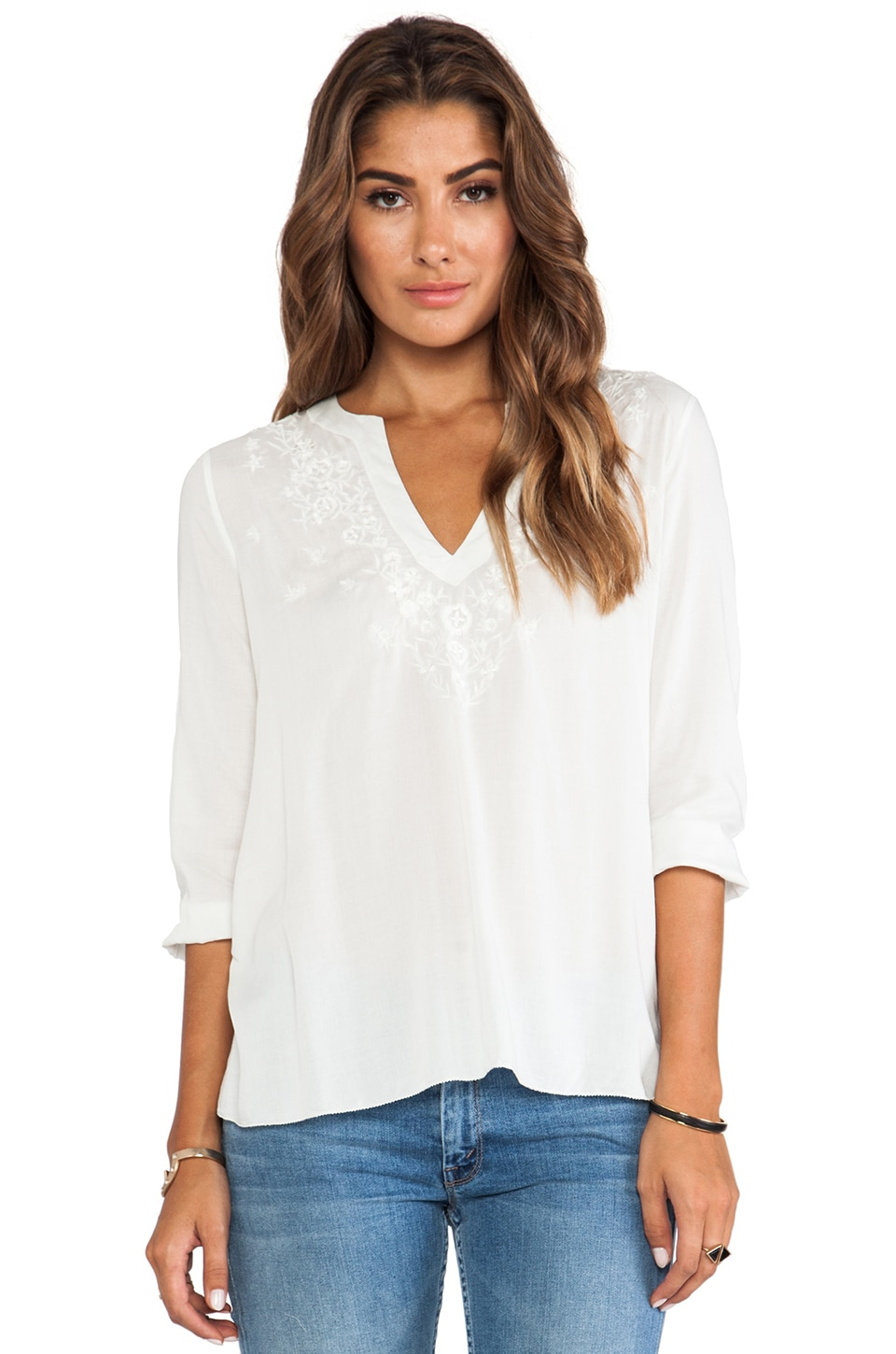 Soft Joie Lake Top in Porcelain