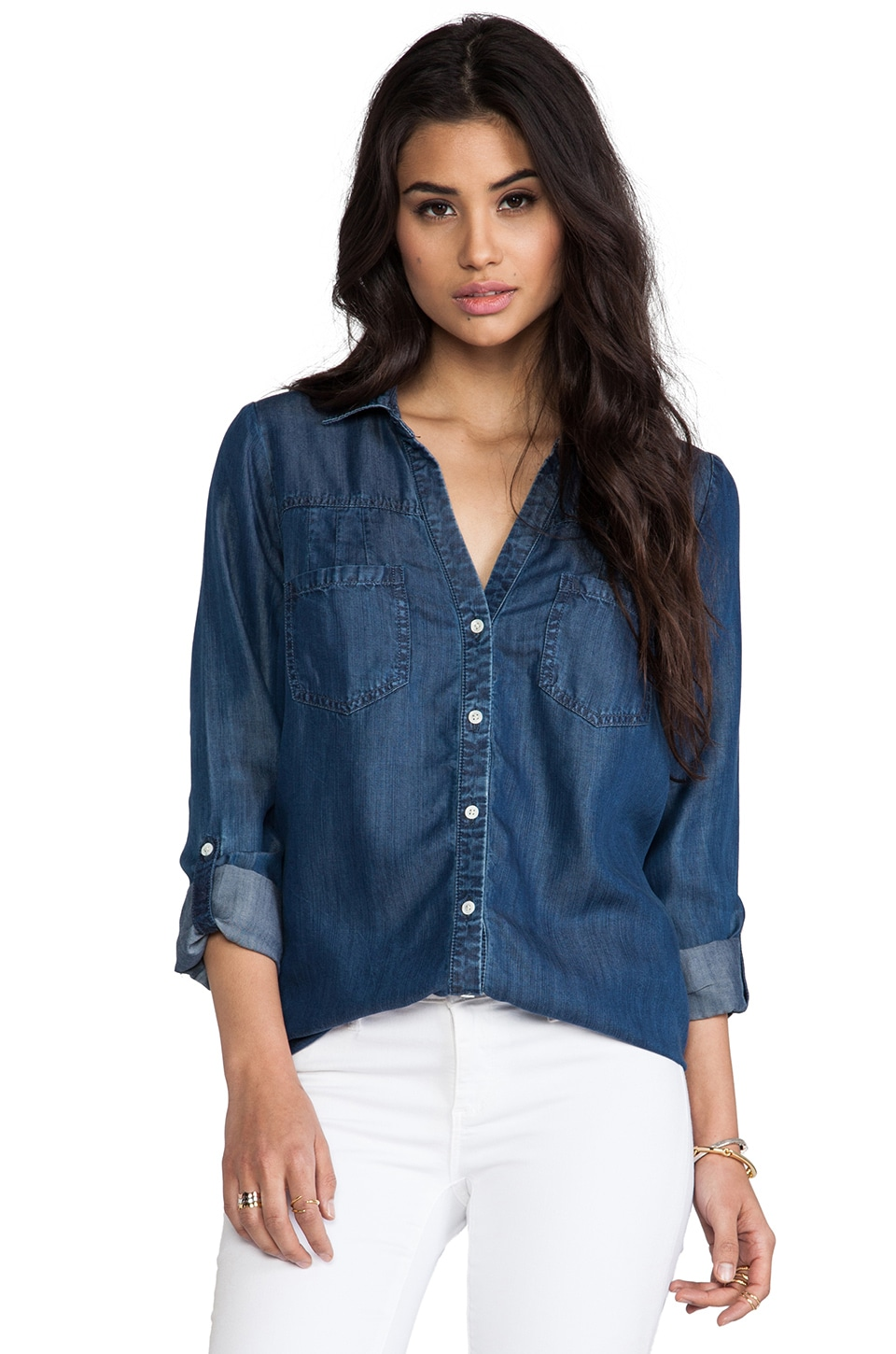 Soft Joie Brady Shirt in Medium Indigo