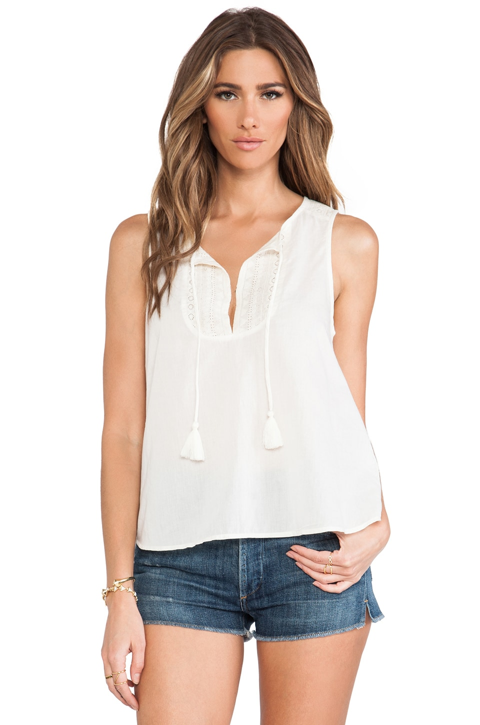 Soft Joie Dimi Top in Eggshell