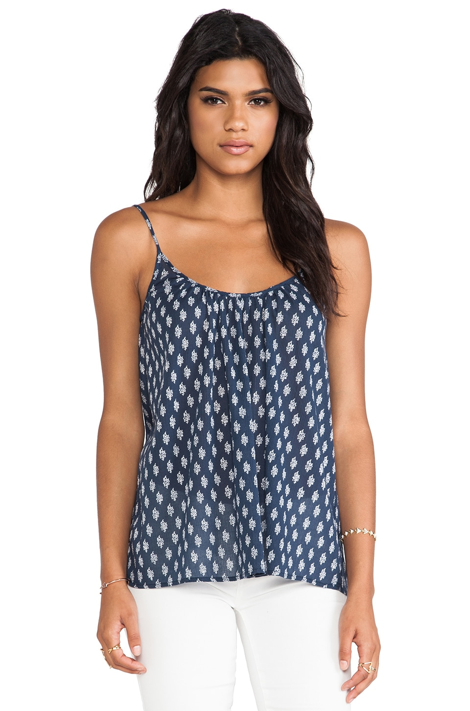 Soft Joie Sparkle Cami in Indigo Blue & Porcelain