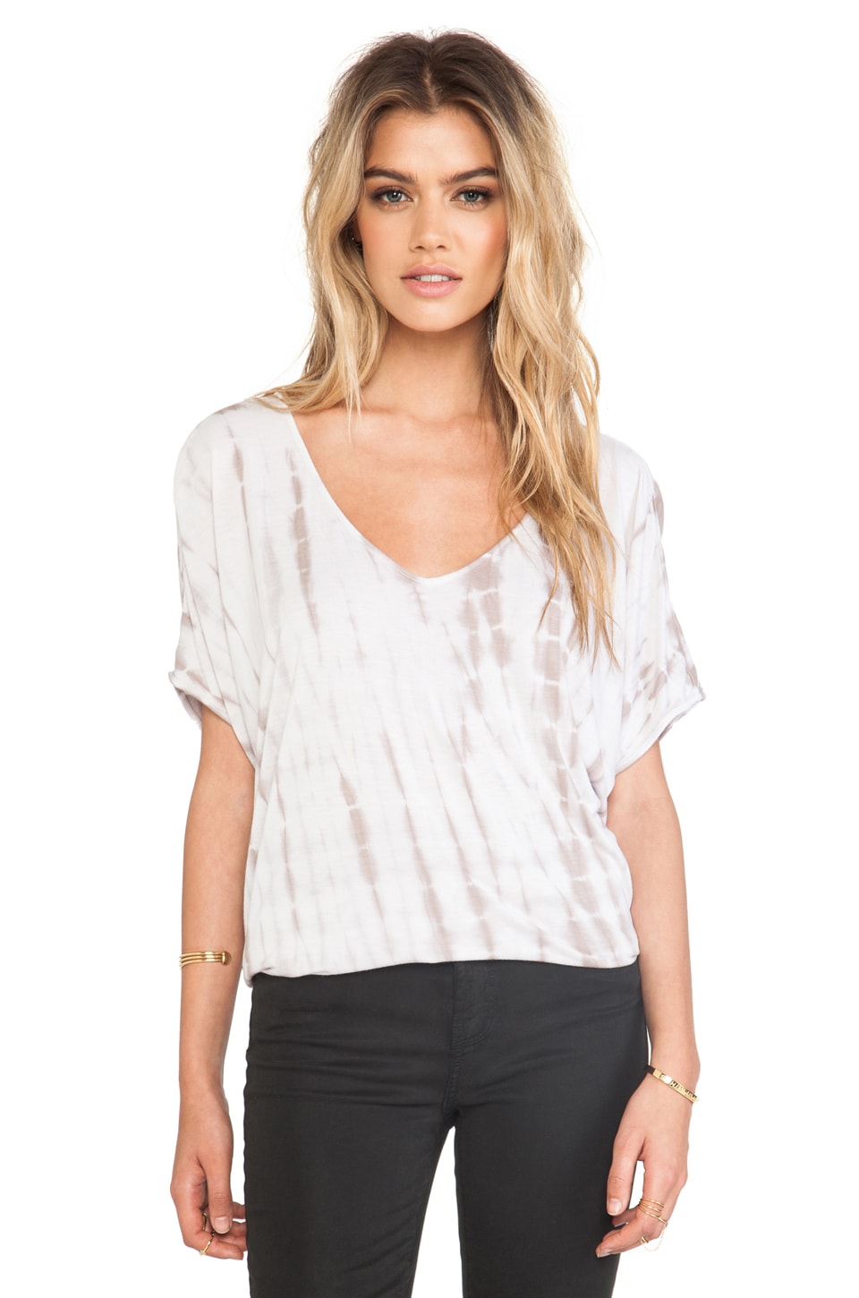 Soft Joie Bangalore Top in Antique White & Ash Grey