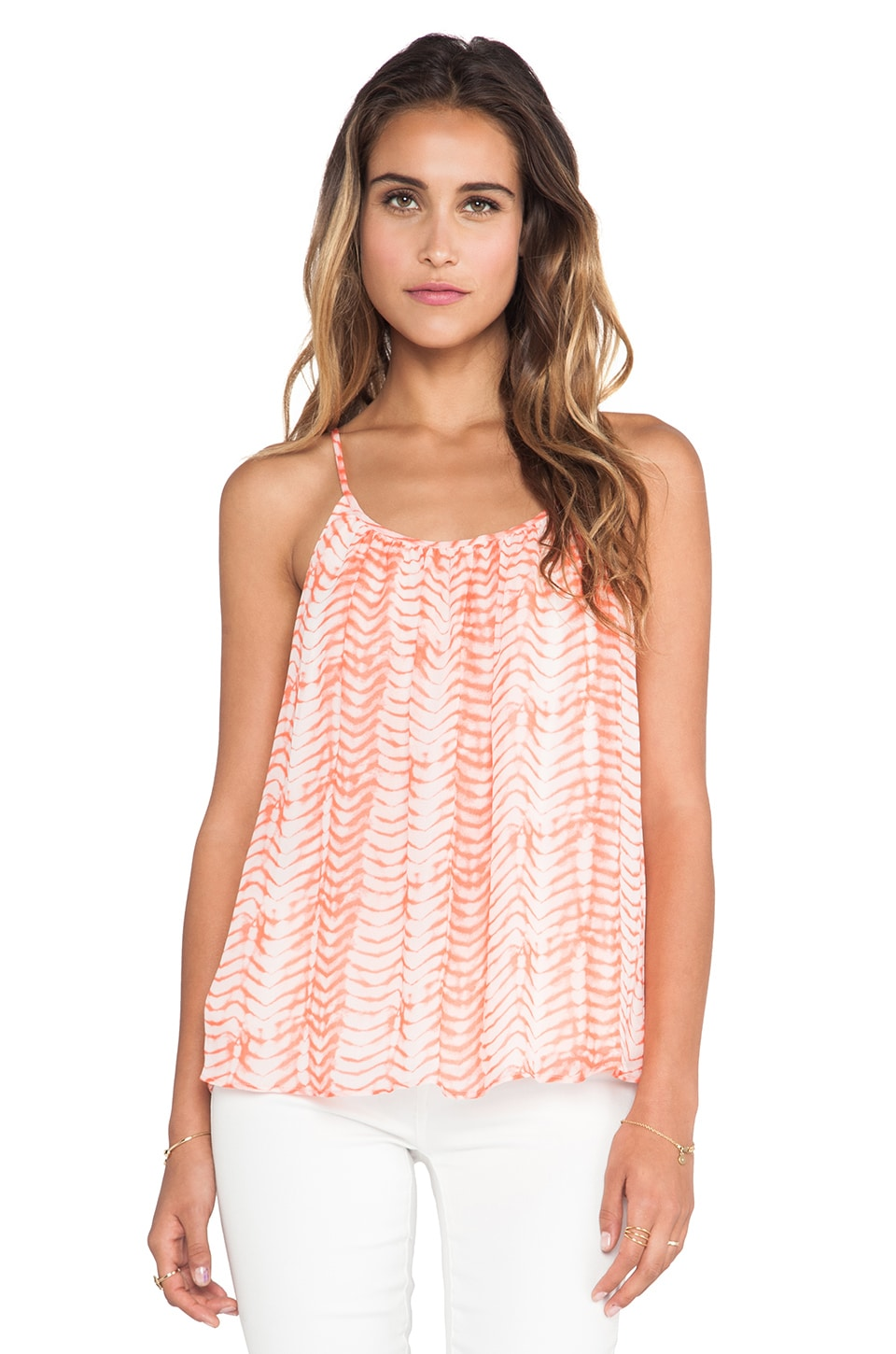 Soft Joie Diya Cami Tank in Sandy Coral & Pebble