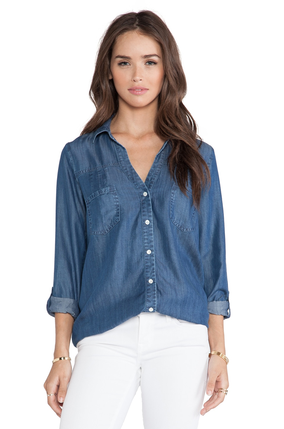 Soft Joie Brady Top in Medium Indigo