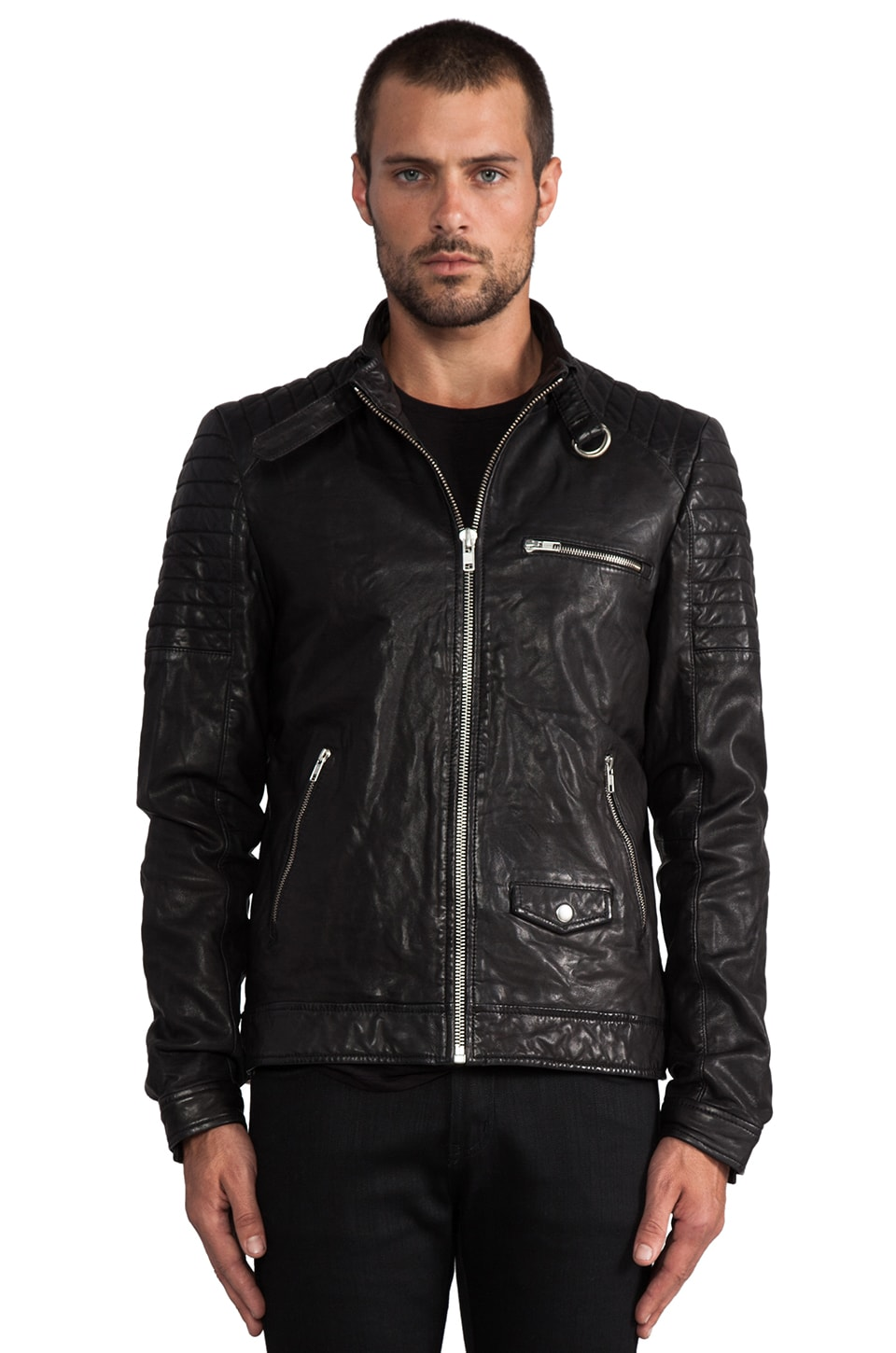Soia & Kyo Urban Leather Jacket en Noir