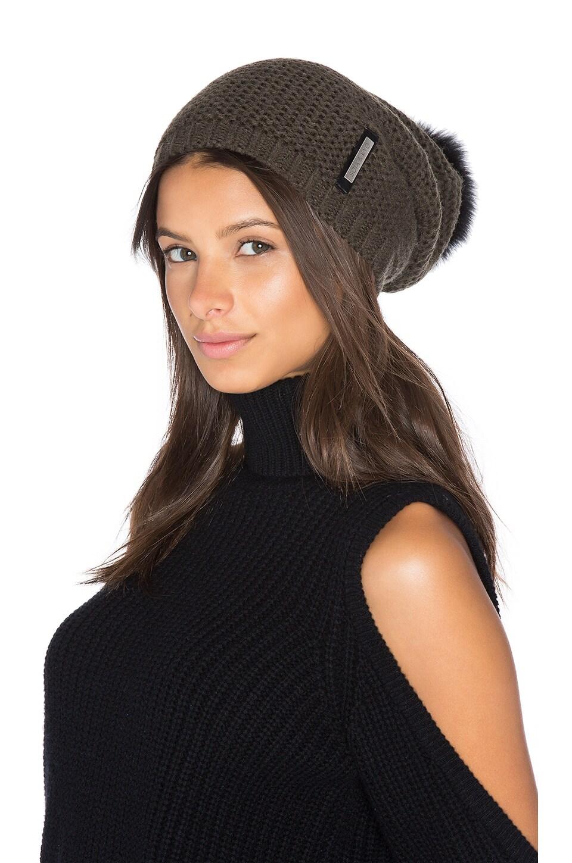 Caddie Hat with Fox Fur Pompom by Soia & Kyo