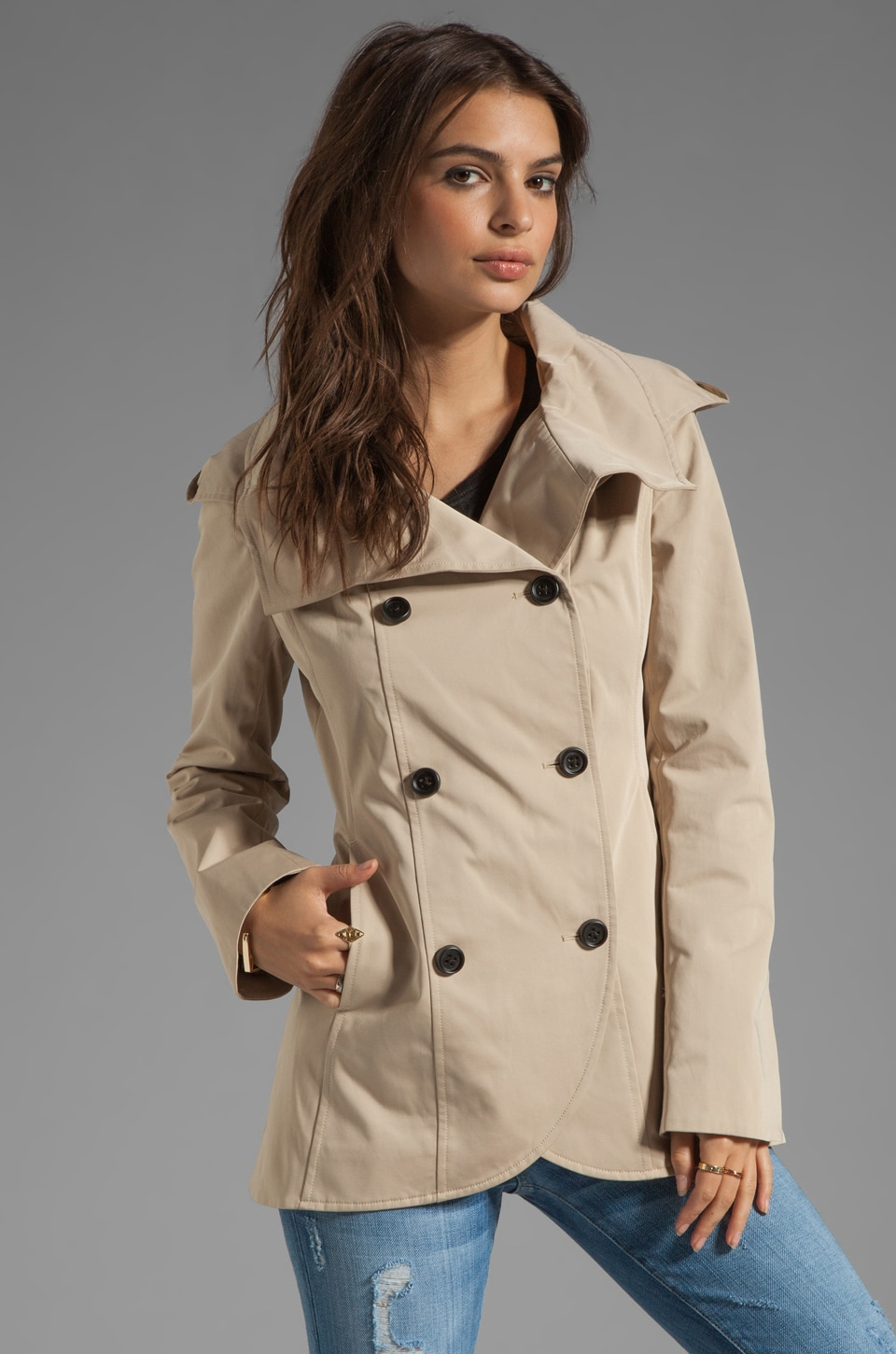 Soia & Kyo Benetta Trench Jacket in Sand