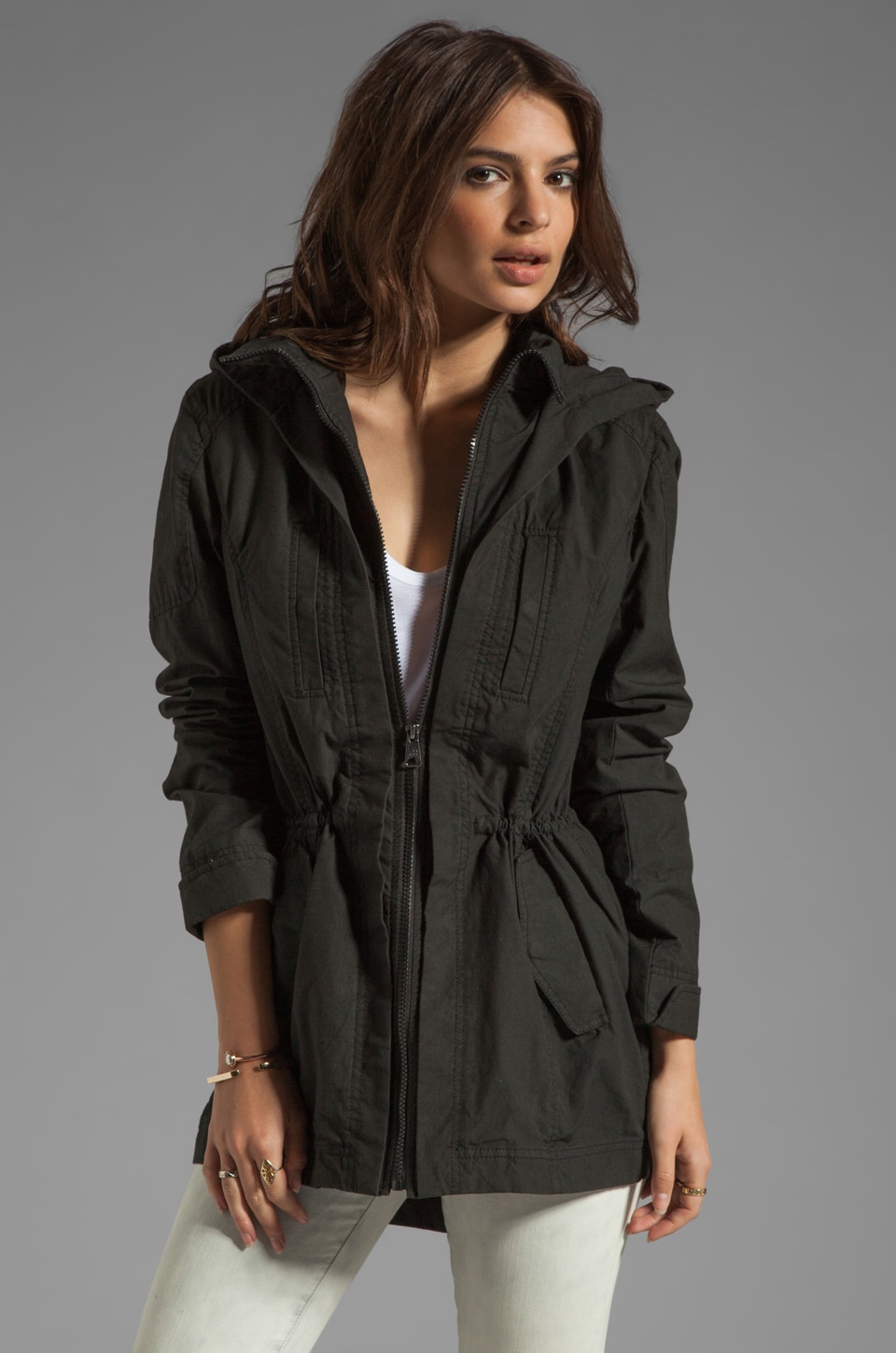 Soia & Kyo Perni Trench Jacket in Black