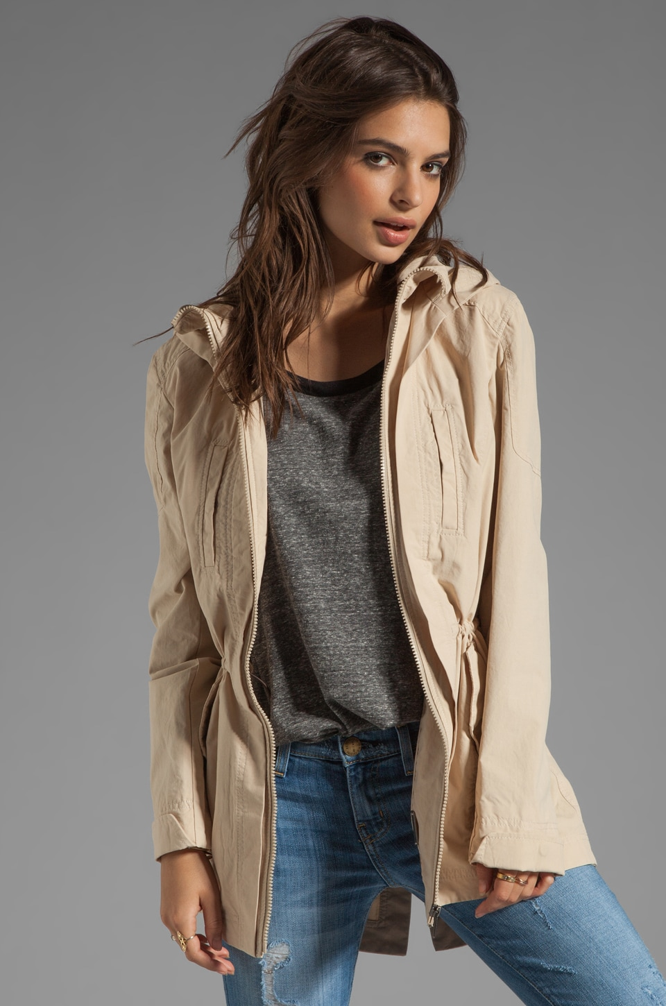 Soia & Kyo Perni Trench Jacket in Sand