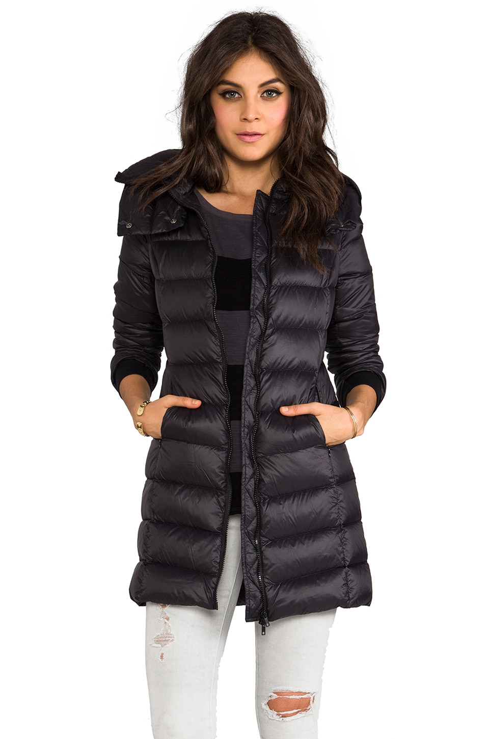 Soia & Kyo Kisha Down Coat in Black