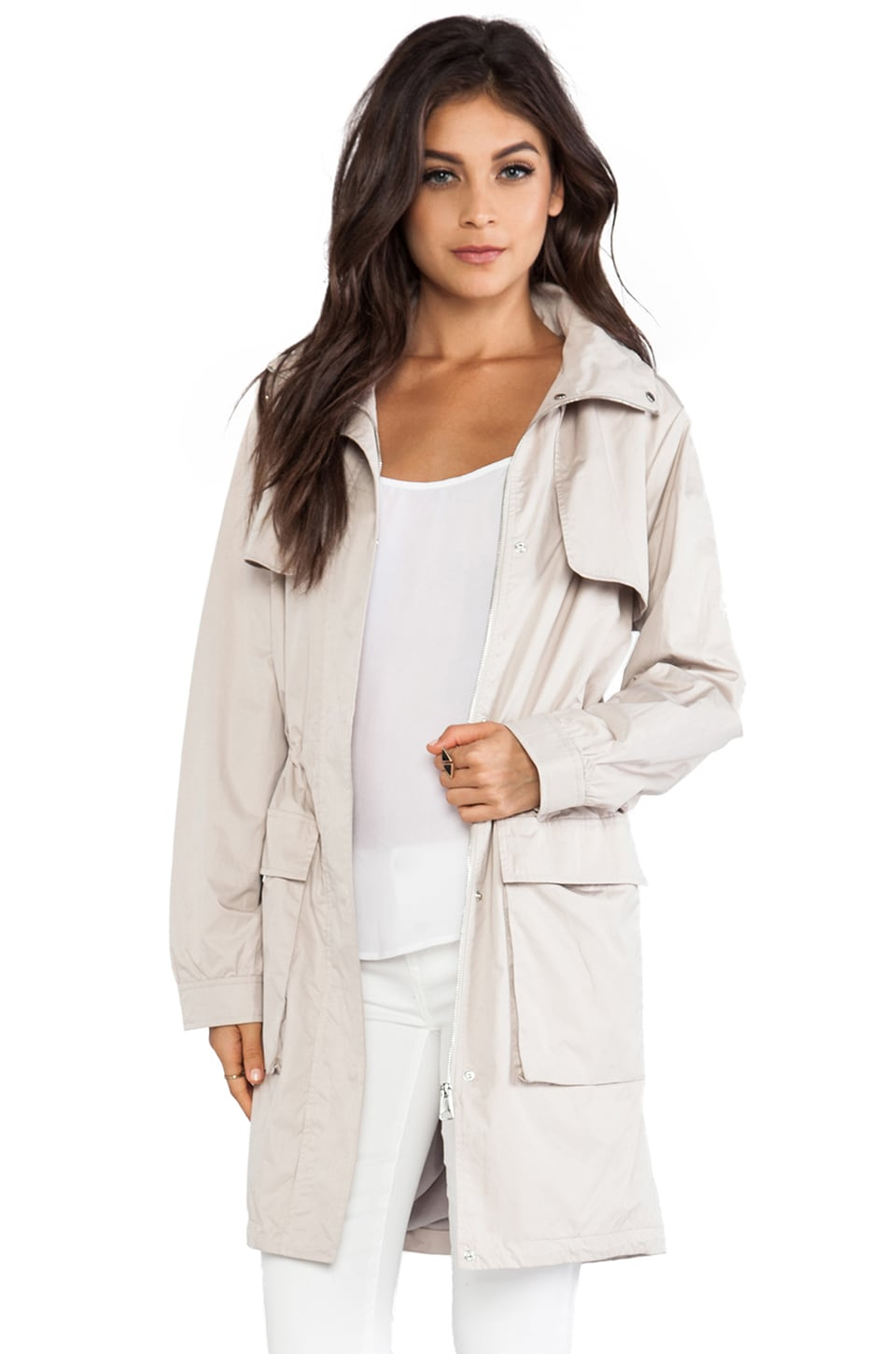 Soia & Kyo River Rain Jacket in Oatmeal
