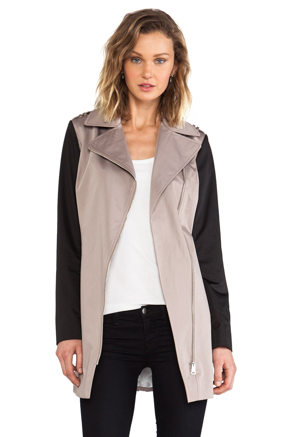 Soia & Kyo Ainsley Trench Coat in Mushroom