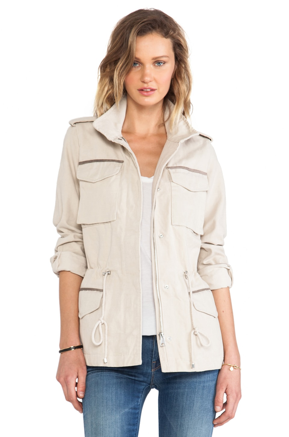 Soia & Kyo Britt Jacket in Oatmeal
