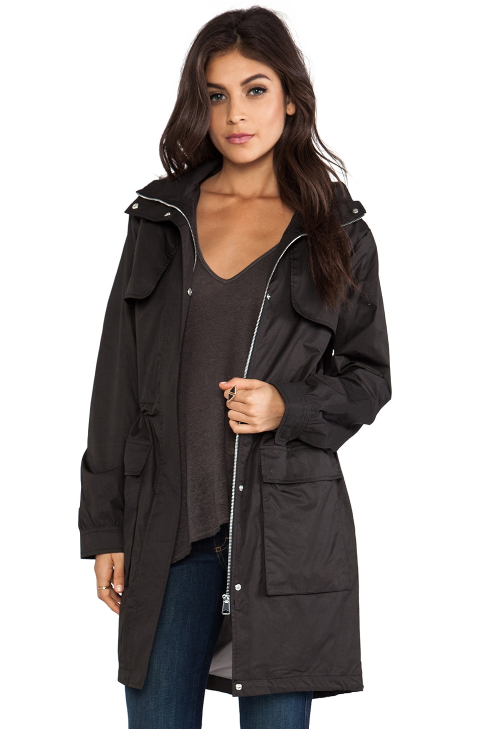 Soia & Kyo River Rain Jacket in Black