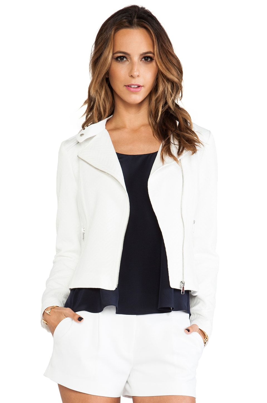 Soia & Kyo Cory Moto Jacket in Vanilla