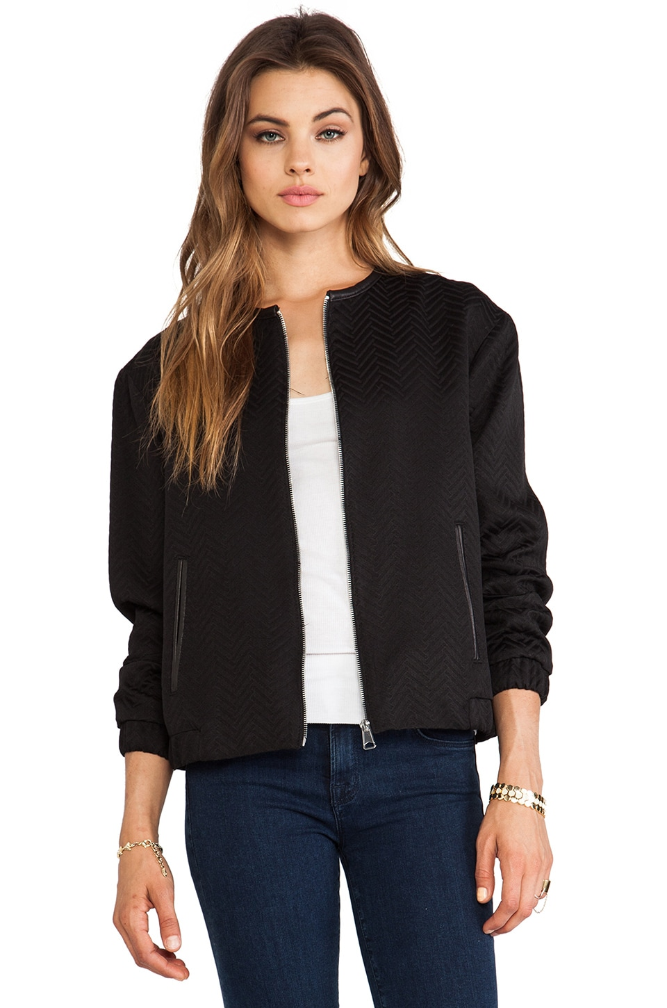 Soia & Kyo Kara Bomber Jacket in Black