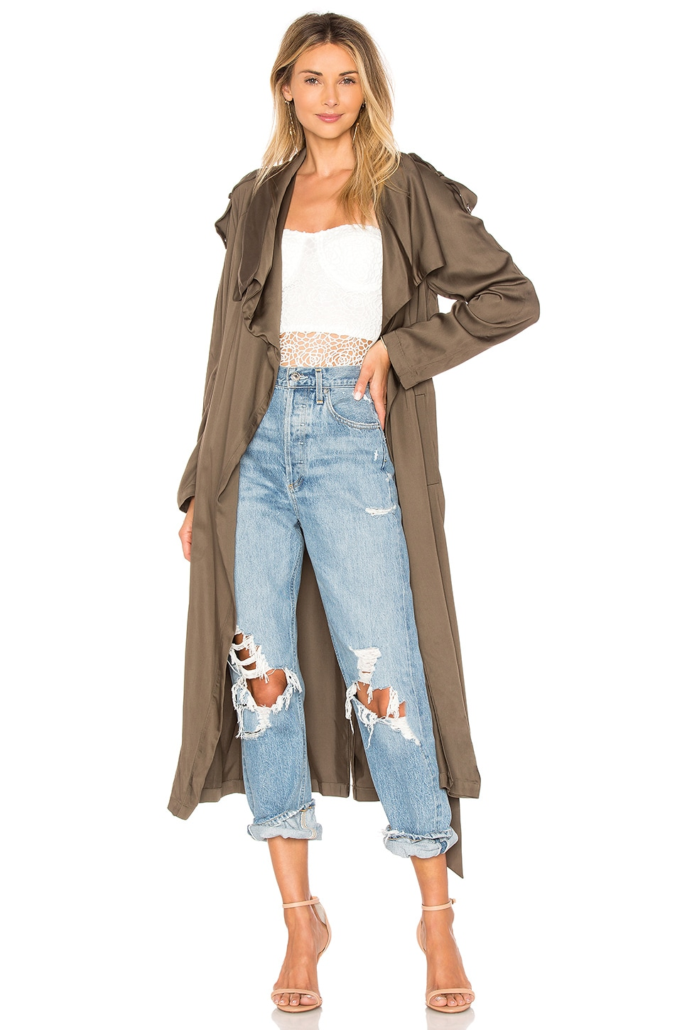 SOIA & KYO MARINELLA TRENCH COAT
