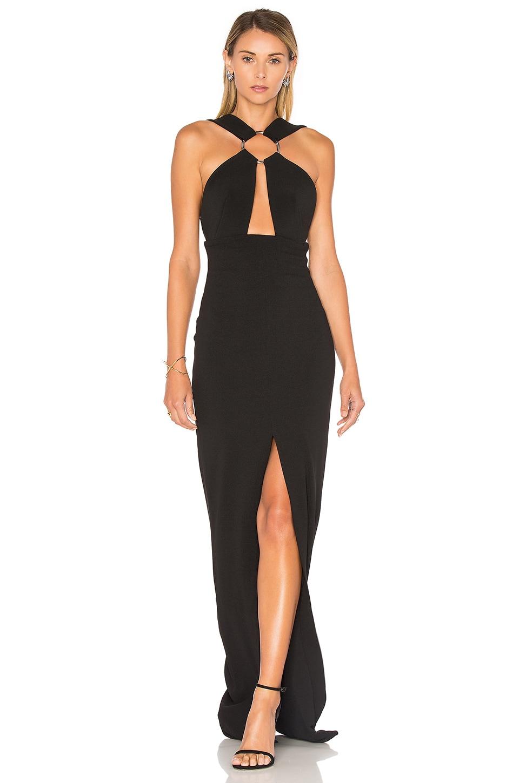 SOLACE London Kali Maxi Dress in Black