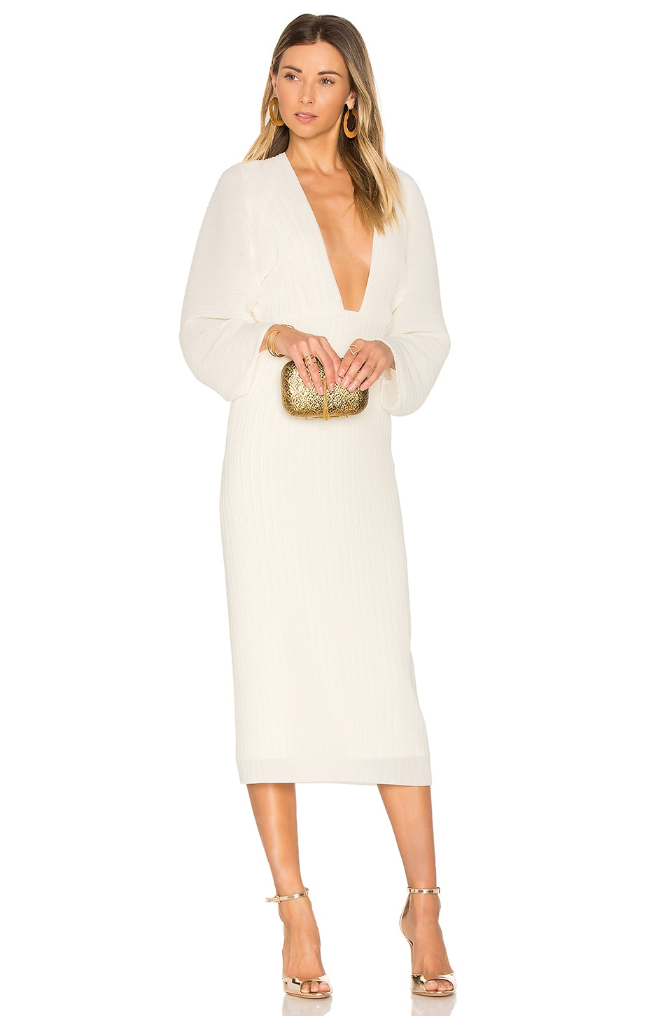 SOLACE London Phillipa Dress in Cream