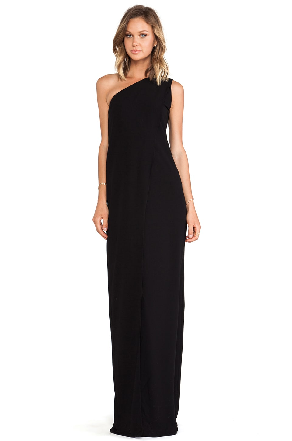 SOLACE London Bourdan Maxi Dress in Black