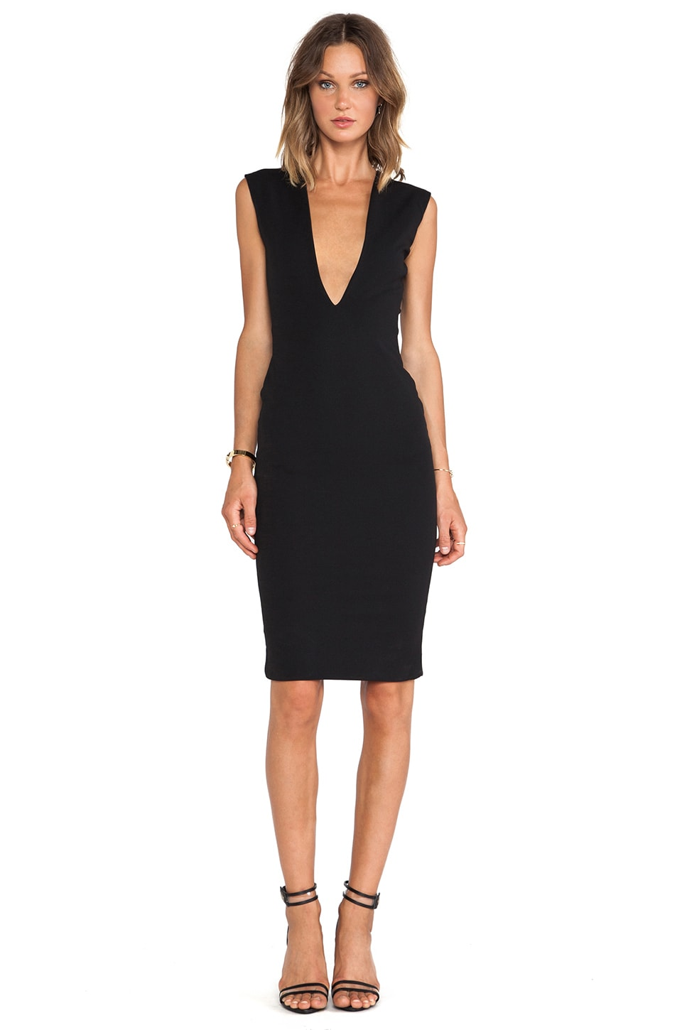 SOLACE London Grace Dress in Black