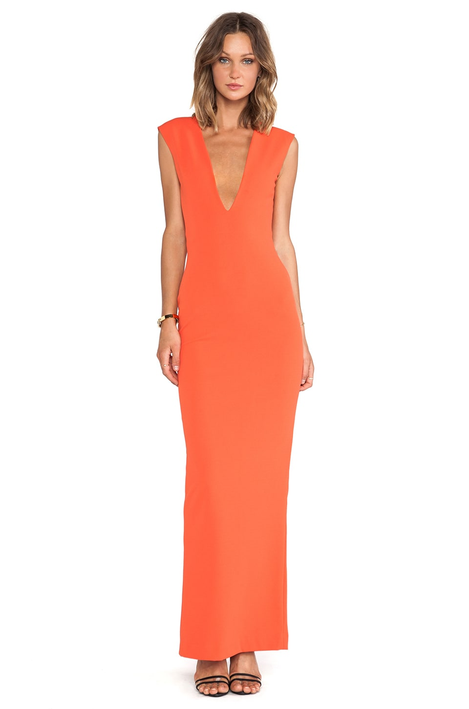 SOLACE London Aretha Maxi Dress in Red
