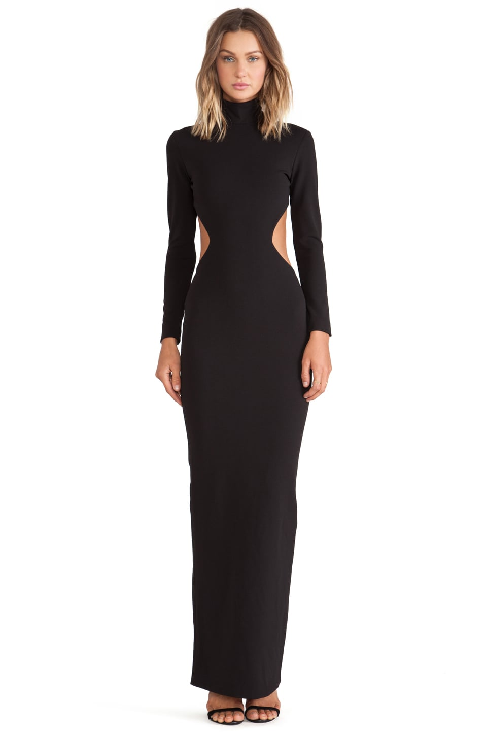 SOLACE London Bougie Maxi Dress in Black