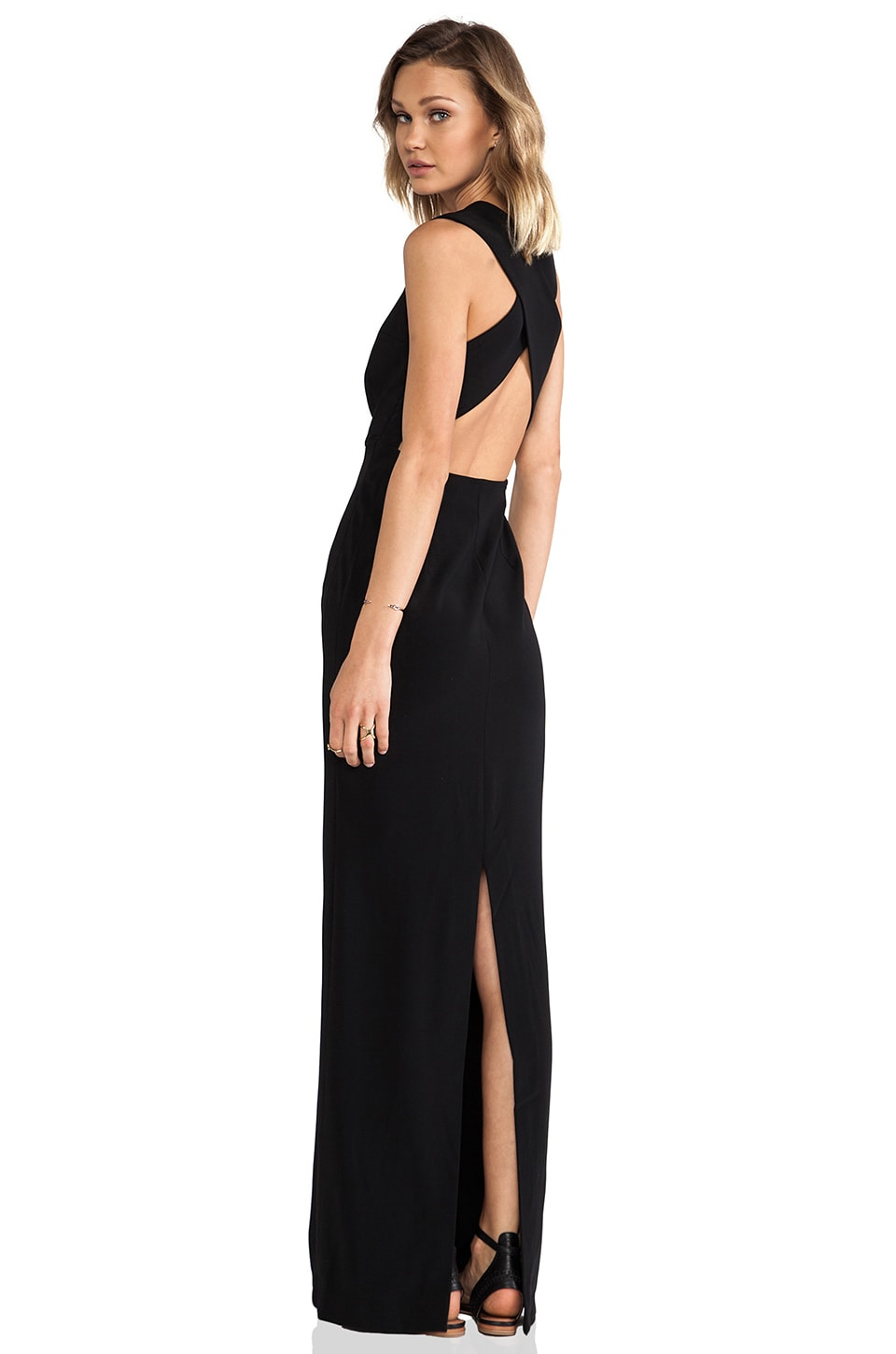 SOLACE London Casa Maxi Dress in Black