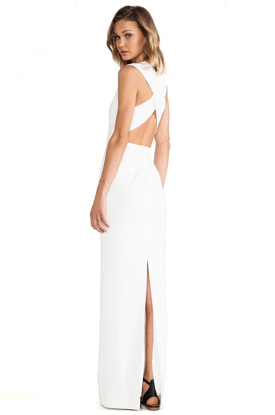 SOLACE London Casa Maxi Dress in Cream