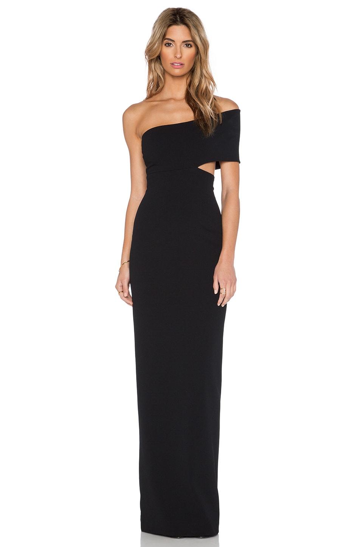 SOLACE London Piano Maxi Dress in Black