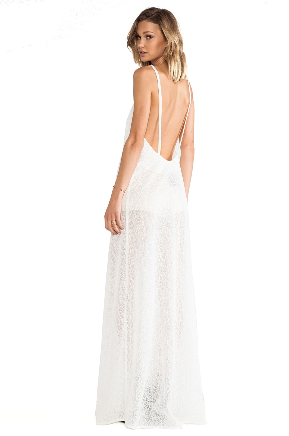 SOLACE London Wilma Maxi Dress in Cream Lace