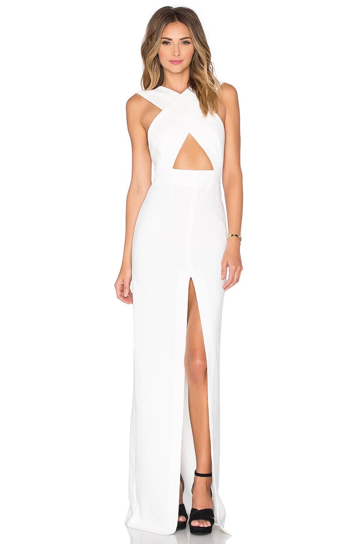 SOLACE London Brooke Maxi Dress in Cream