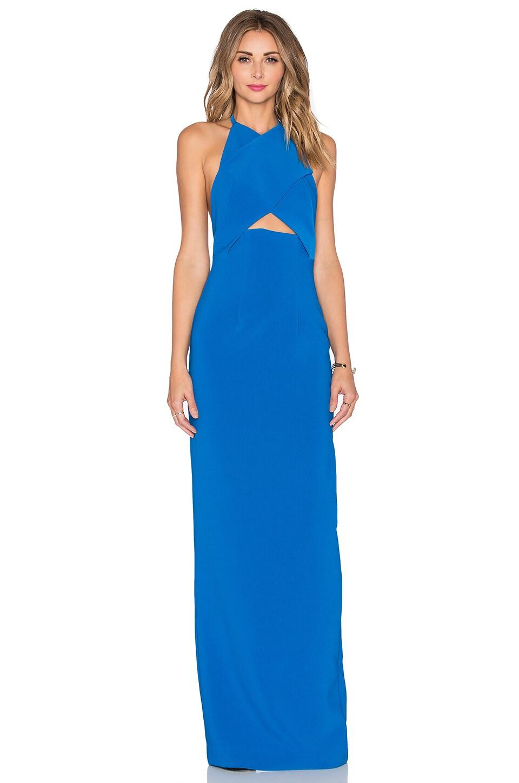 SOLACE London Keaton Maxi Dress in Azure - REVOLVE