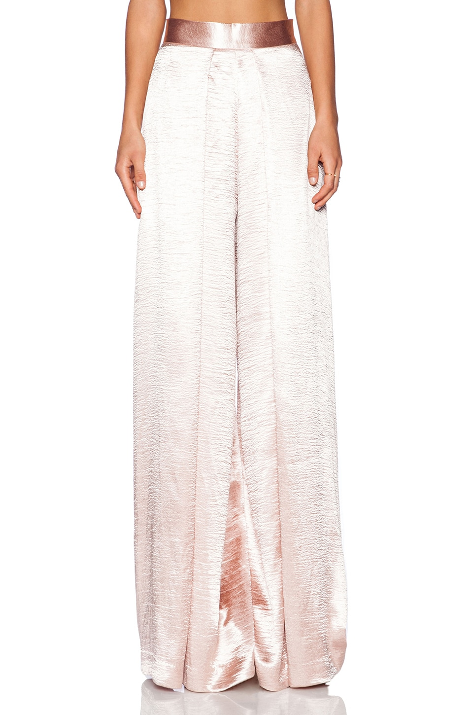 SOLACE London Stellis Trousers in Metallic Pink