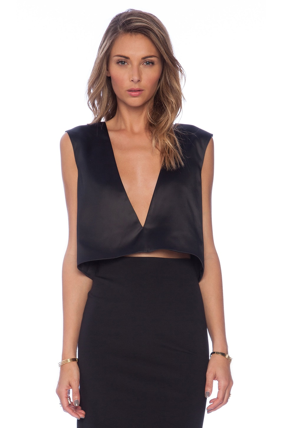 SOLACE London Maire Top in Black
