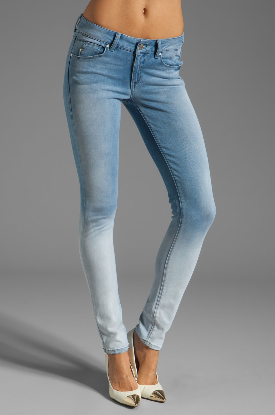 SOLD Design Lab SOLD Soho Ombre Super Skinny in Denim Wash