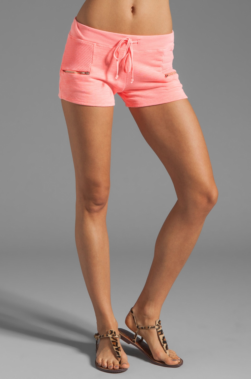 SOLOW Short with Mesh Pocket in Peach