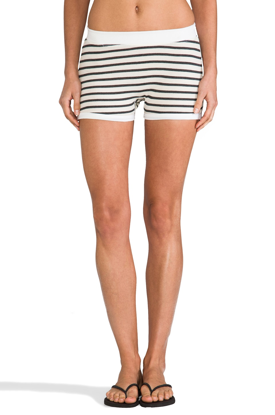 SOLOW Stripe Thermal Booty Short in Polar