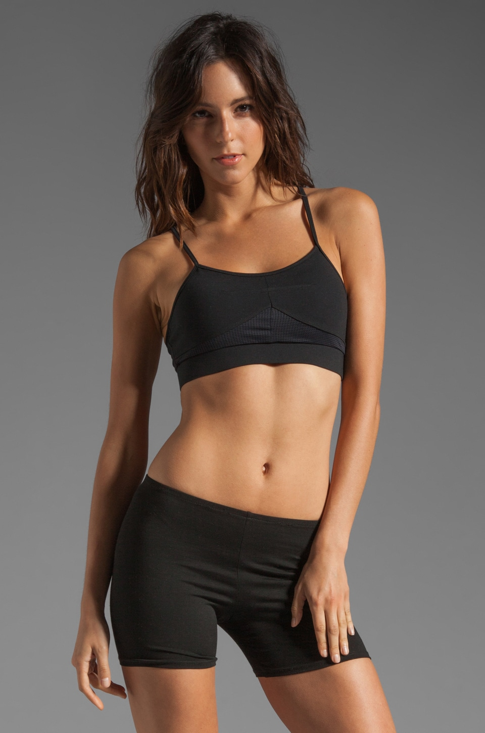 SOLOW Eclon Workout Bra in Black