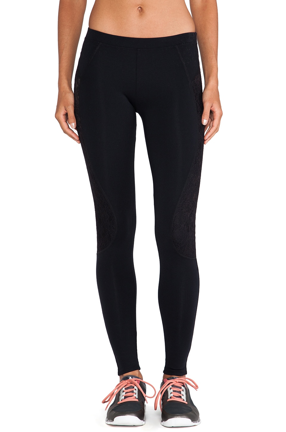 SOLOW So Low Legging with Lace in Black