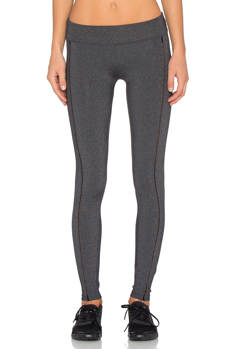 SOLOW Open Embroidered Legging in Charcoal