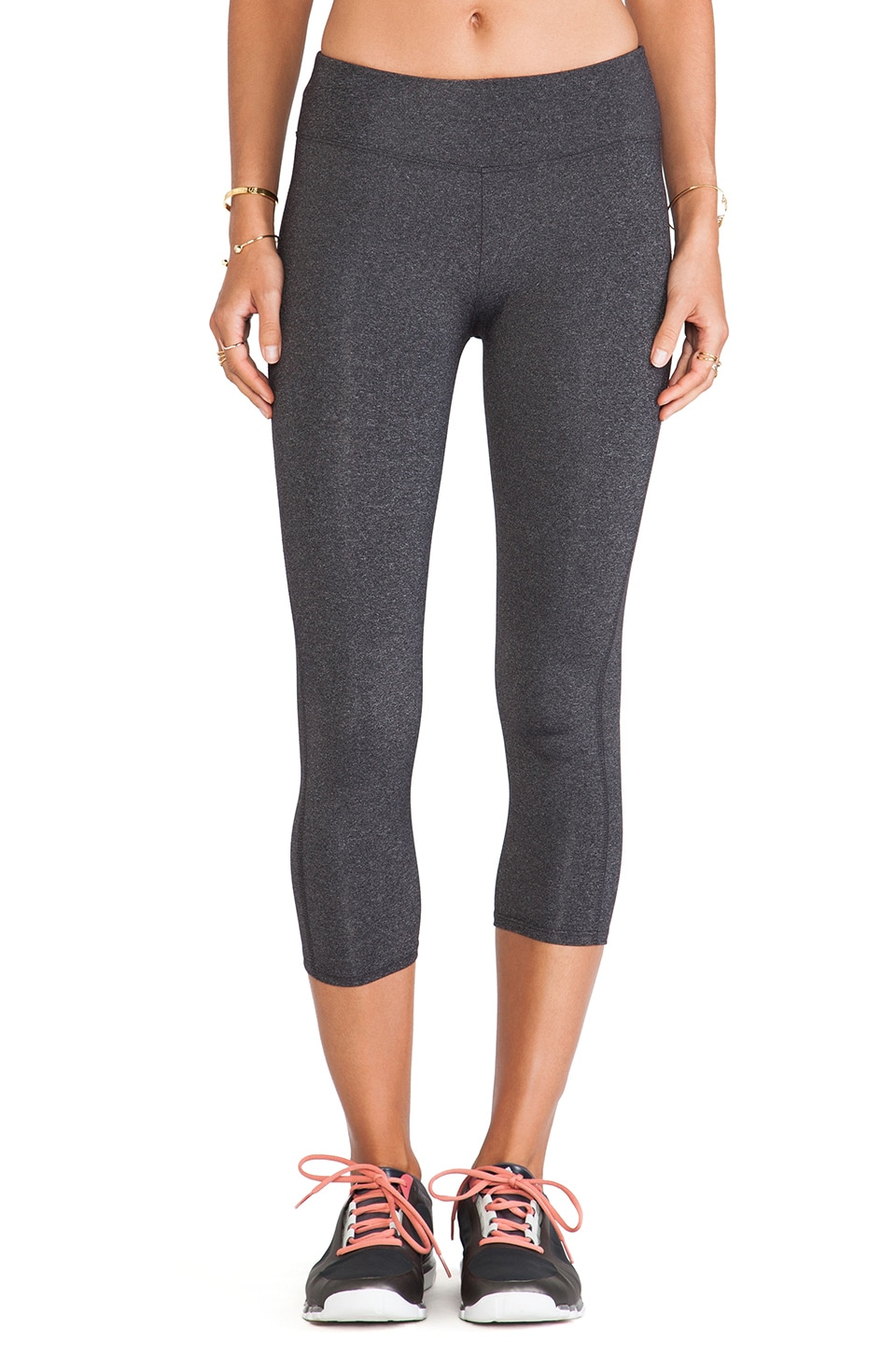 SOLOW So Low High Impact Crop Legging in Heather Charcoal