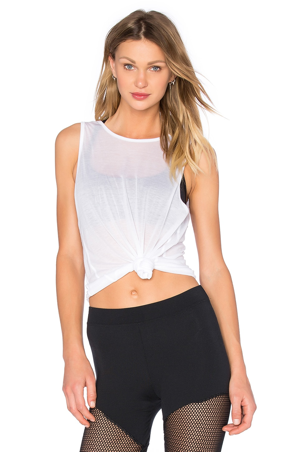 SOLOW Scoop Back Tank in White