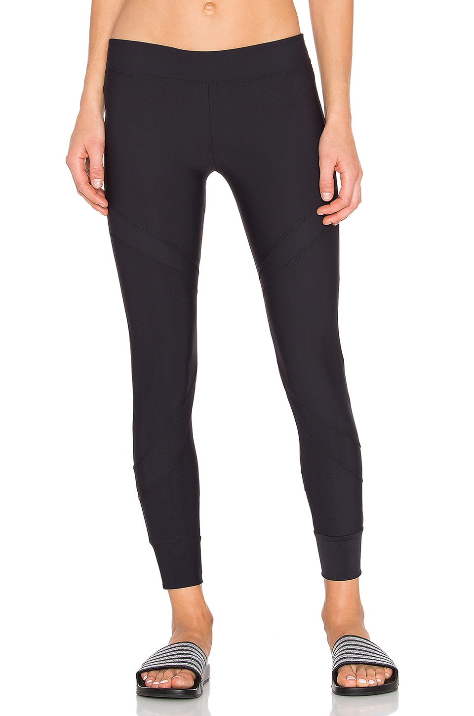 SOLOW Convergent Zip Legging in Black