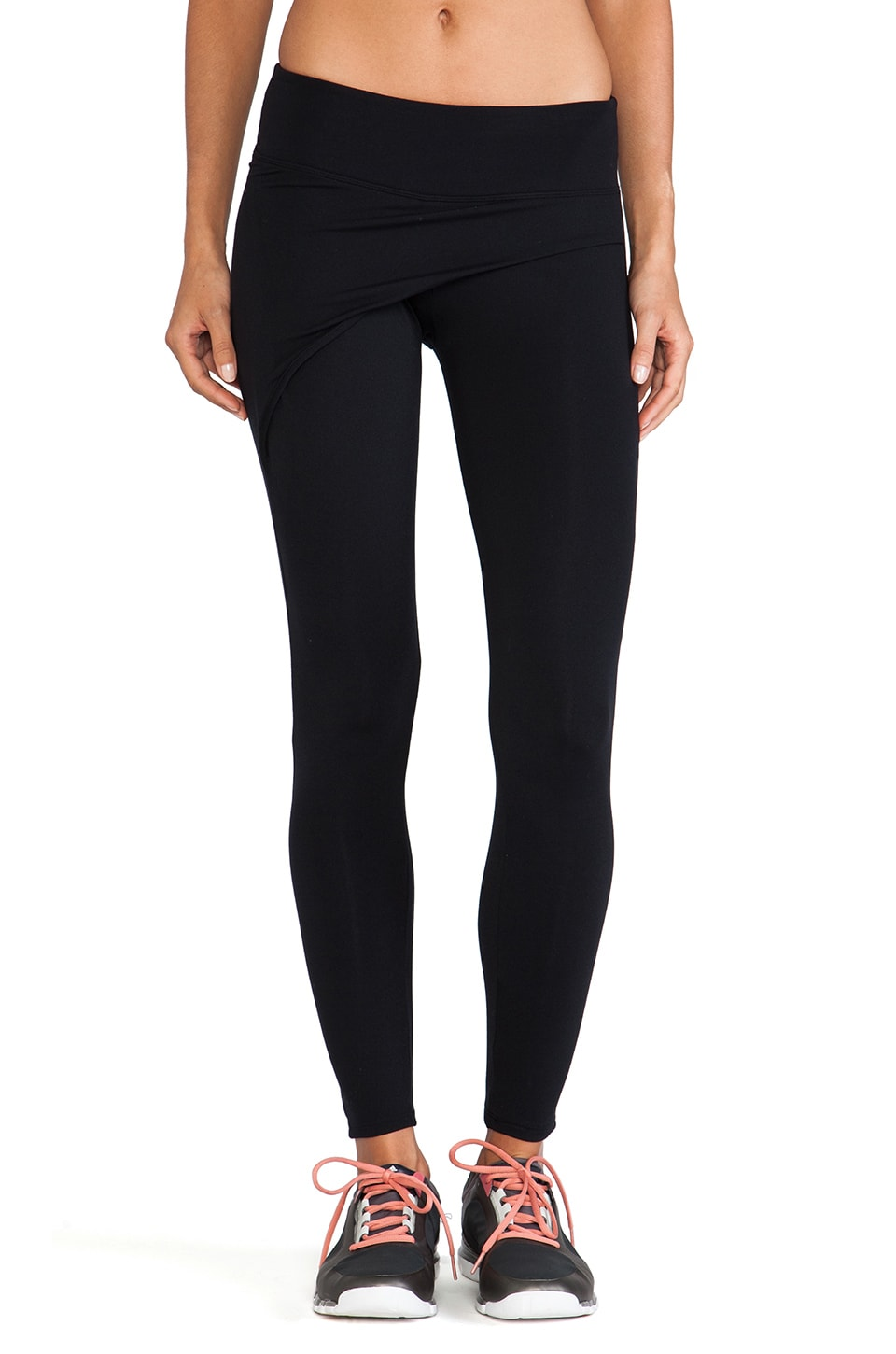 SOLOW So Low Wrap Front Legging in Black