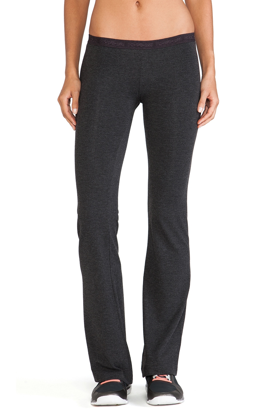SOLOW So Low Foxy Flare Pant in Heather Charcoal